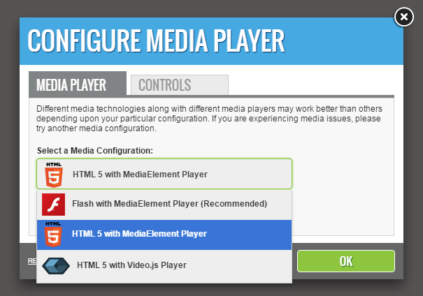 Configure Media Player