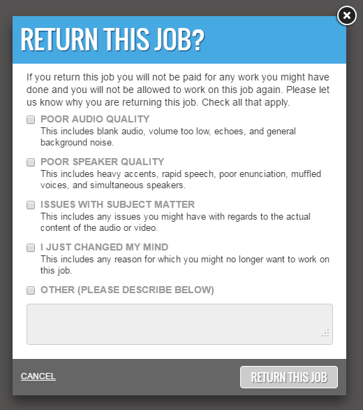 Return This Job